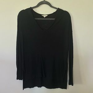 Madewell V Neck Black Long Sleeved Top